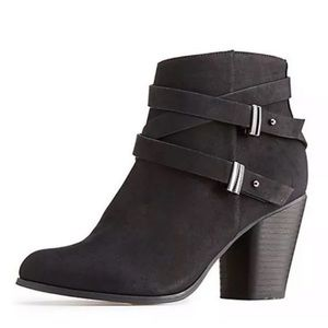 Black Charlotte Russe Ankle Booties